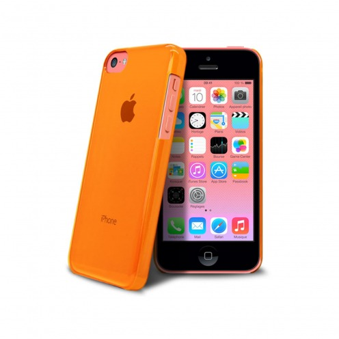 "Coque ""Crystal"" pour iPhone 5C Orange"