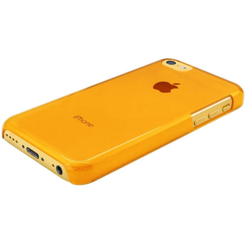 """Photo réelle de Coque """"Crystal"""" pour iPhone 5C Orange"""