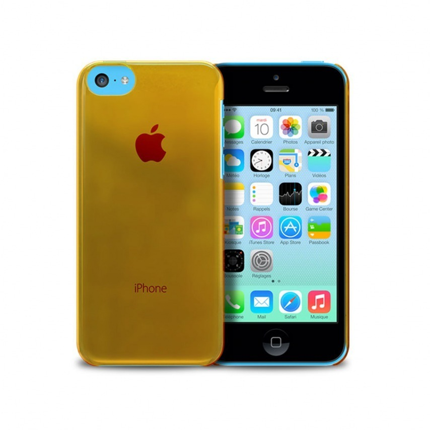 "Visuel unique de Coque ""Crystal"" pour iPhone 5C Orange"