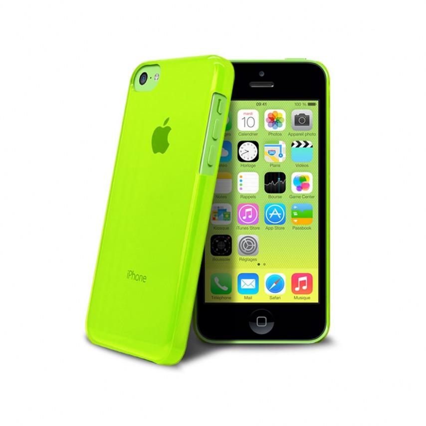 """Vue complémentaire de Coque """"Crystal"""" pour iPhone 5C Verte"""