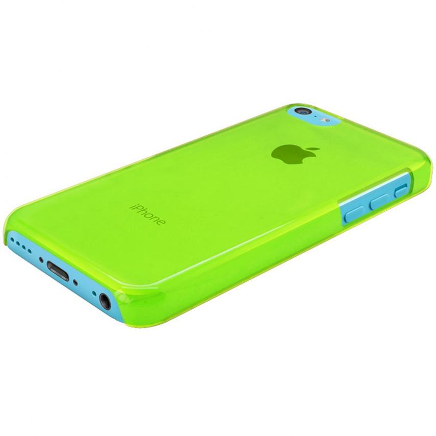 """Photo réelle de Coque """"Crystal"""" pour iPhone 5C Verte"""