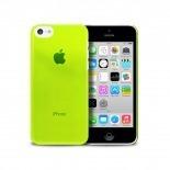 """Vue portée de Coque """"Crystal"""" pour iPhone 5C Verte"""