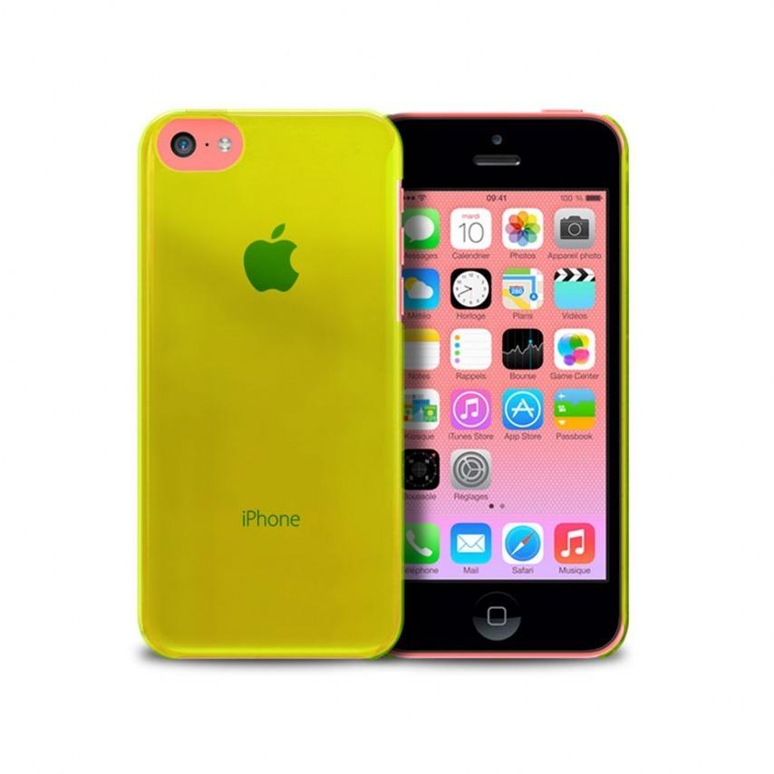 """Visuel unique de Coque """"Crystal"""" pour iPhone 5C Verte"""