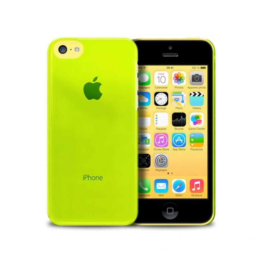 """Visuel supplémentaire de Coque """"Crystal"""" pour iPhone 5C Verte"""