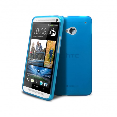 Coque HTC One Frozen Ice Extra Fine Bleue