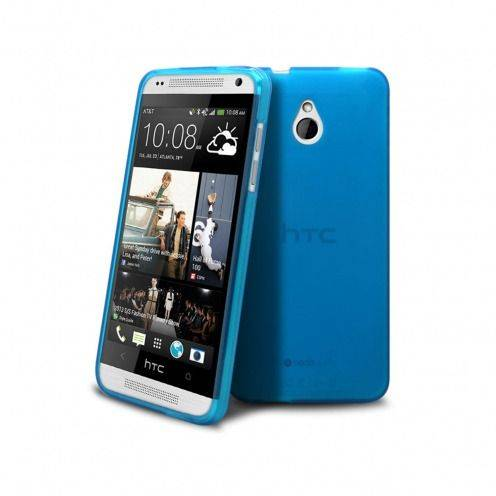 Coque HTC One mini Frozen Ice Extra Fine Bleue
