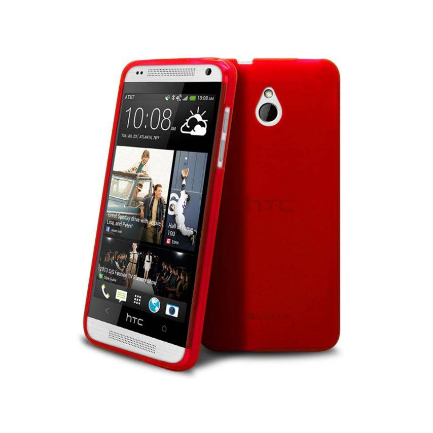 Visuel unique de Coque HTC One mini Frozen Ice Extra Fine Rouge