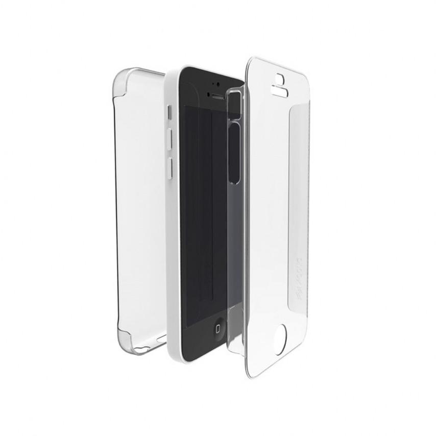Vue portée de Coque iPhone 5C X-Doria® Defense 360° transparente