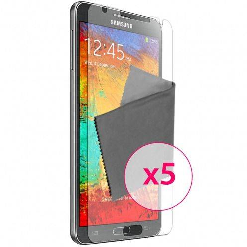 Zoom sur Films de protection Samsung Galaxy Note 3 Clubcase ® HD Lot de 5