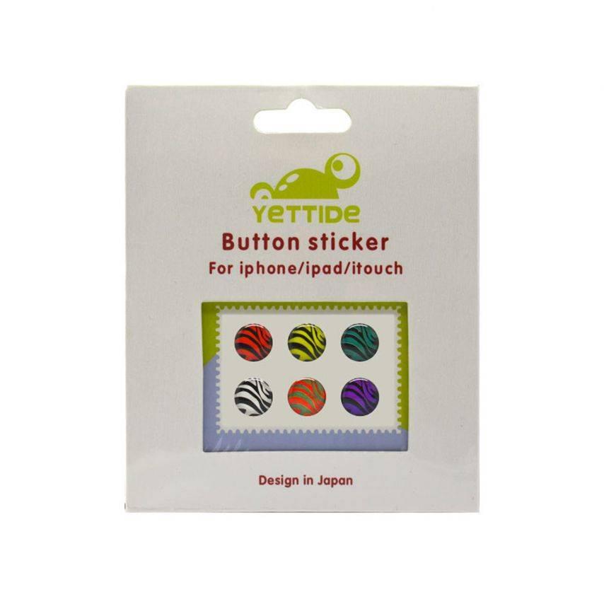 Visuel unique de Home Sticker Autocollant bouton Home iPhone 3GS / 4 / 4S / 5 Design Zèbre