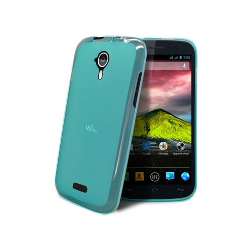 Coque Wiko Cink Five Frozen Ice Extra Fine Bleue