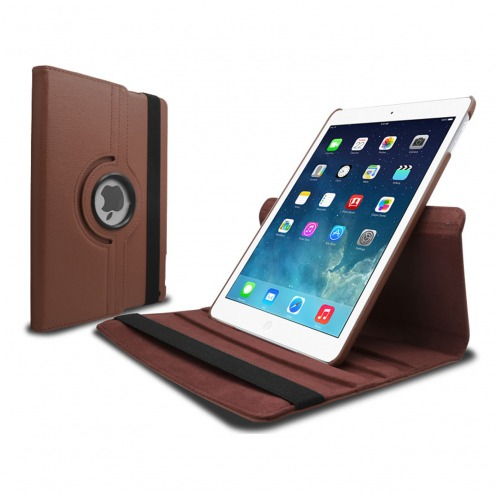 Coque iPad Air rotative 360° cuir PU Havanne