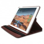 Photo réelle de Coque iPad Air rotative 360° cuir PU Marron