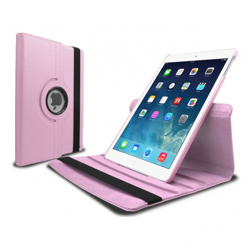 Visuel supplémentaire de Coque iPad Air rotative 360° cuir PU Rose