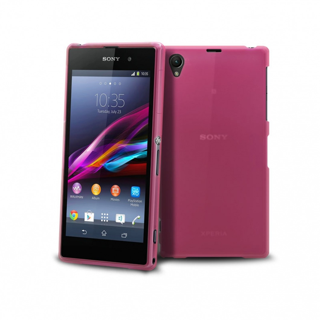 coque xperia z1 frozen ice extra fine rose. Black Bedroom Furniture Sets. Home Design Ideas