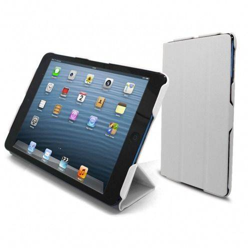 Smart Cover Ultra Slim Stand 96G iPad Mini Cuir Eco Blanche