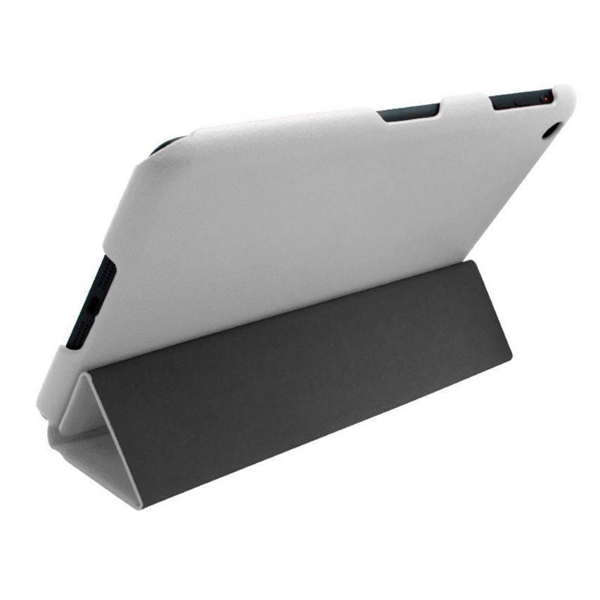 Vue portée de Smart Cover Ultra Slim Stand 96G iPad Mini Cuir Eco Blanche