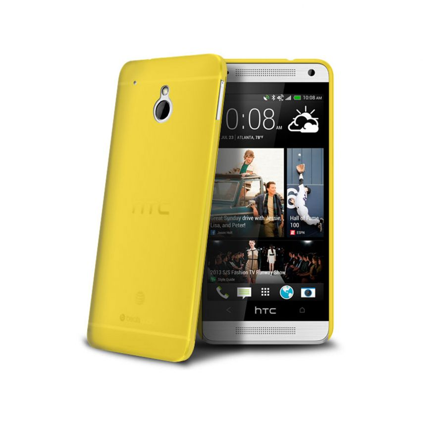 Visuel unique de Coque Ultra Fine 0.3mm Frost HTC One mini Jaune