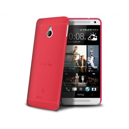 Visuel unique de Coque Ultra Fine 0.3mm Frost HTC One mini Rouge