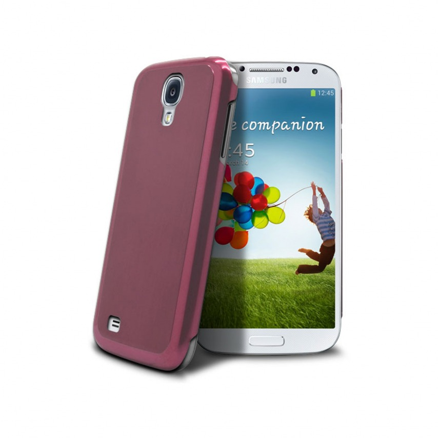 Photo réelle de Coque Ultra-Fine 0,3 mm métal brossé Acero Samsung Galaxy S4 Rose