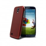 Photo réelle de Coque Ultra-Fine 0,3 mm métal brossé Acero Samsung Galaxy S4 Rouge
