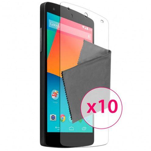 Zoom sur Films de protection Google Nexus 5 par LG Clubcase ® HD Lot de 10