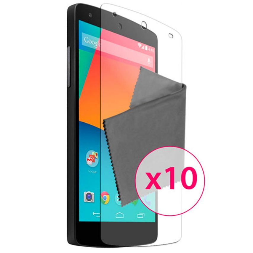 Zoom sur Films de protection Google Nexus 5 par LG Clubcase ® HD Lot de 10