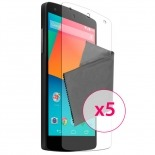 Zoom sur Films de protection Google Nexus 5 par LG Clubcase ® HD Lot de 5