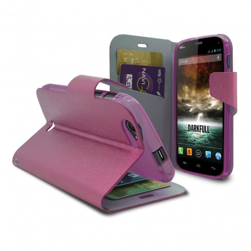 Smart Cover Wiko Darkfull Papyrus Rose
