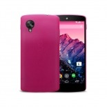 Photo réelle de Coque Ultra Fine 0.3mm Frost Google Nexus 5 Rose