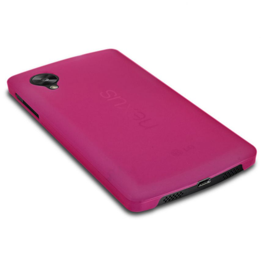 Visuel unique de Coque Ultra Fine 0.3mm Frost Google Nexus 5 Rose