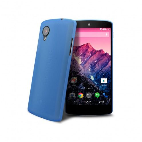 Coque Ultra Fine 0.3mm Frost Google Nexus 5 Bleue