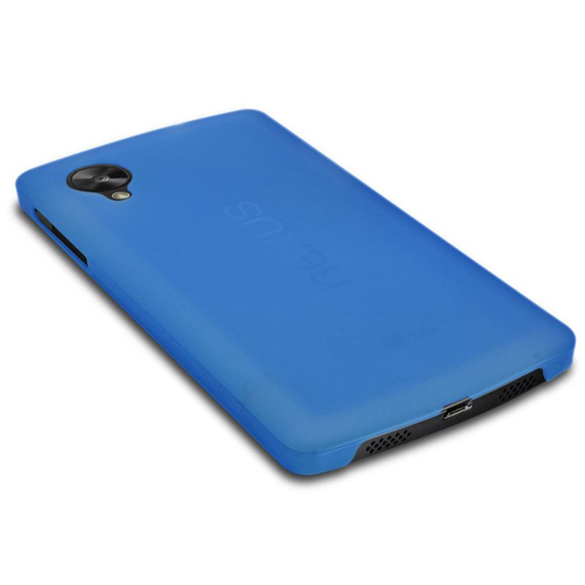Visuel unique de Coque Ultra Fine 0.3mm Frost Google Nexus 5 Bleue