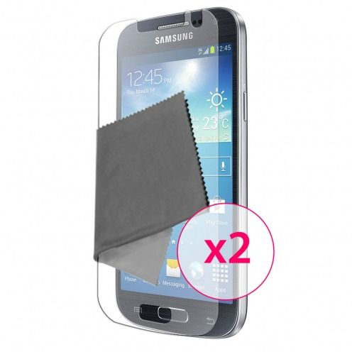 Zoom sur Films de protection anti traces de doigts Galaxy S4 Mini Clubcase ® Lot de 2