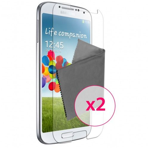 Zoom sur Films de protection anti traces de doigts Galaxy S4 Clubcase ® Lot de 2