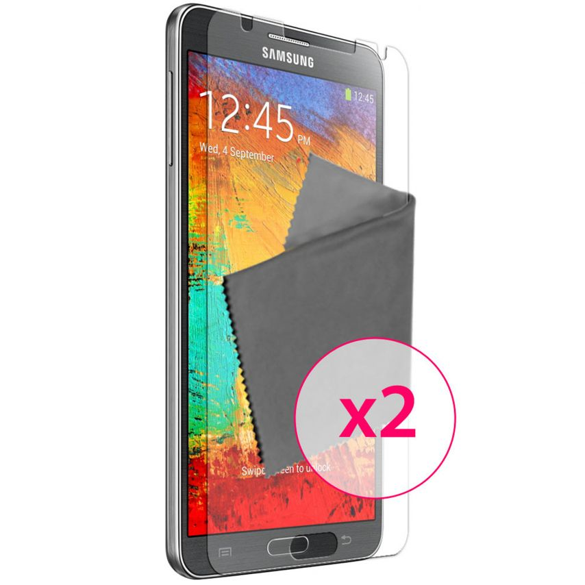 Zoom sur Films de protection anti traces de doigts Galaxy Note 3 Clubcase ® Lot de 2