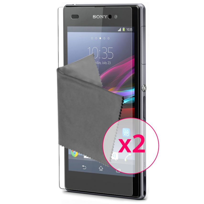 Zoom sur Films de protection anti traces de doigts Xperia Z1 Clubcase ® Lot de 2