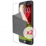 Zoom sur Films de protection anti traces de doigts LG G2 Clubcase ® Lot de 2