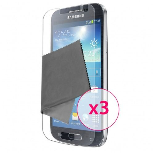 Zoom sur Films de protection anti traces de doigts Galaxy S4 Mini Clubcase ® Lot de 3
