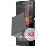Zoom sur Films de protection anti traces de doigts Xperia Z Clubcase ® Lot de 3