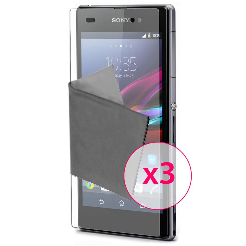 Zoom sur Films de protection Anti-Reflet Xperia Z1 Clubcase ® Lot de 3