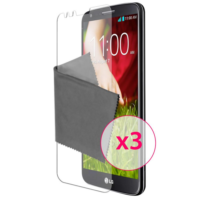 Zoom sur Films de protection Anti-Reflet LG G2 Clubcase ® Lot de 3