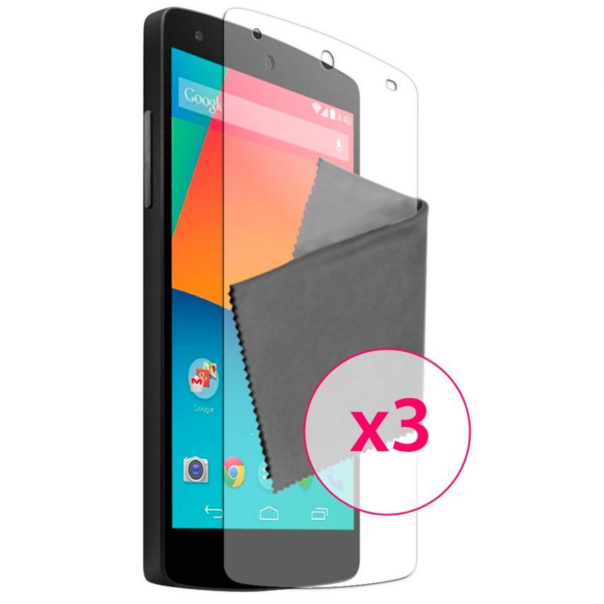 Zoom sur Films de protection Anti-Reflet LG Nexus 5 Clubcase ® Lot de 3