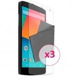 Zoom sur Films de protection anti traces de doigts LG Nexus 5 Clubcase ® Lot de 3