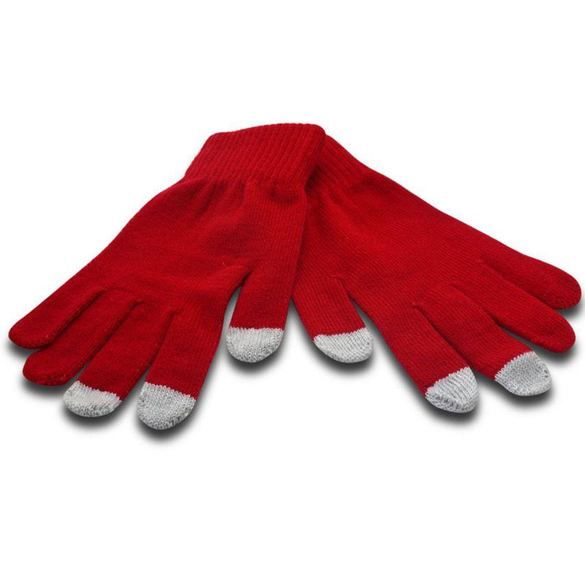 Visuel unique de iTouch - Gants tactiles spécial iPhone Rouge Taille S