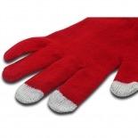 Vue complémentaire de iTouch - Gants tactiles spécial iPhone Rouge Taille S