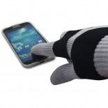 Visuel supplémentaire de iTouch - Gants tactiles spécial iPhone Gris & Noir - Taille S