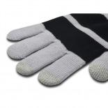 Vue complémentaire de iTouch - Gants tactiles spécial iPhone Gris & Noir - Taille S