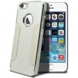 Photo réelle de Coque iPhone 5S / 5 Aluminium Chrome COLORS BRUSH Argentée