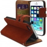 Visuel supplémentaire de Smart Cover iPhone 5/5S finition Daim Amarante